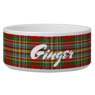Tigela Tartan escocês de Chattan do clã dos animais de
