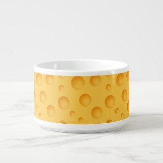 Tigela Teste padrão amarelo do queijo