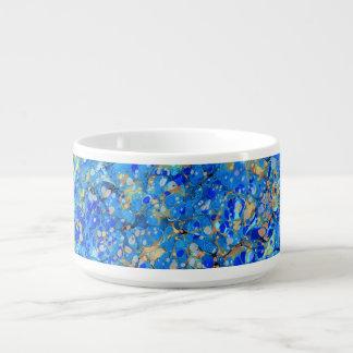 Tigela Teste padrão bonito azul do mar elegante com laço