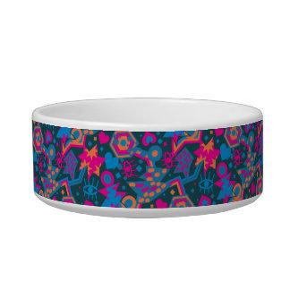 Tigela Teste padrão cor-de-rosa brilhante legal do pop