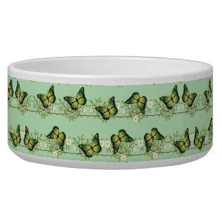 Tigela Teste padrão de borboletas verde