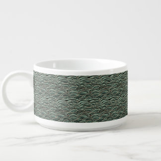 Tigela Teste padrão de ondas abstrato verde. Textura do