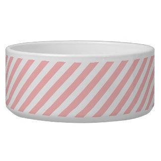Tigela Teste padrão diagonal do rosa e o branco das