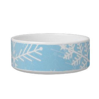 Tigela Teste padrão do floco de neve do Natal