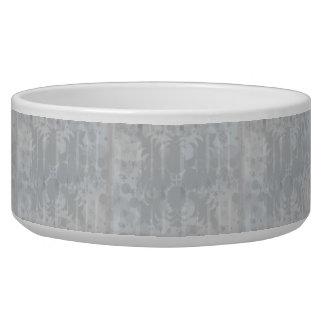 Tigela Teste padrão floral do cinza de prata do vintage