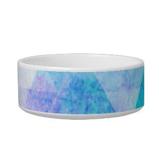 Tigela Teste padrão geométrico da aguarela azul