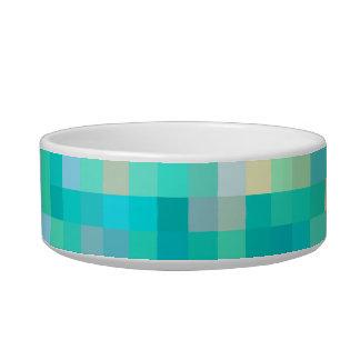 Tigela Teste padrão multicolorido da arte do pixel