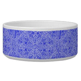 Tigela Torções florais azuis