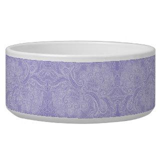 Tigela Torções florais azuis do Lilac