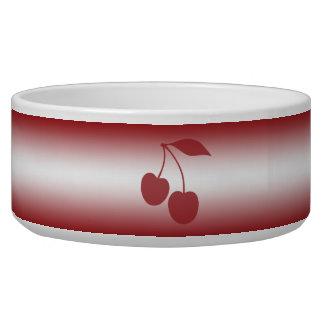Tigela Vermelho de cereja ao inclinação branco