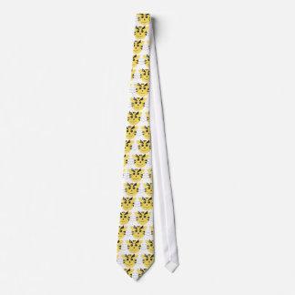 Tigre amarelo dos desenhos animados gravata