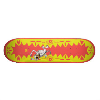 Tigre amarelo shape de skate 18,7cm
