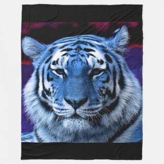 Tigre azul cobertor de lã