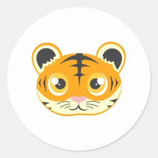 Tigre bonito dos desenhos animados adesivo