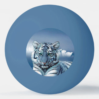 Tigre branco azul bola para ping pong