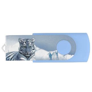 Tigre branco azul pen drive