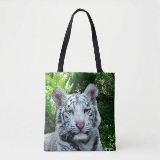 Tigre branco bolsa tote