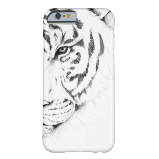 tigre branco capa barely there para iPhone 6
