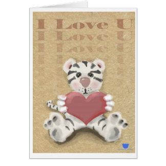 Tigre branco cartão comemorativo