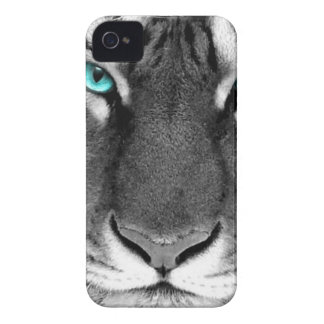 Tigre branco preto capa para iPhone 4 Case-Mate