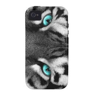 Tigre branco preto capinhas para iPhone 4/4S