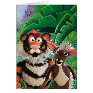 Tigre & cartão de Mousedeer