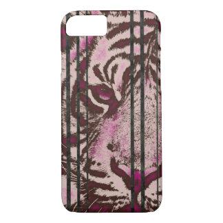 Tigre cor-de-rosa fluorescente capa iPhone 7
