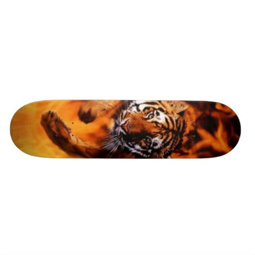 Tigre da chama skates personalizados