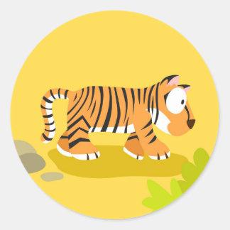 Tigre de meu serie dos animais do mundo adesivo
