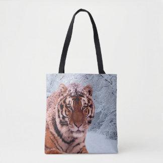 Tigre e neve bolsa tote