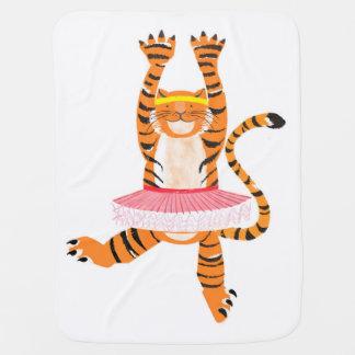 Tigre em um tutu cobertorzinho para bebe
