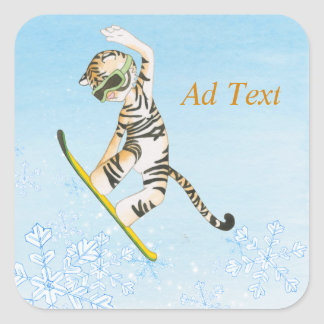 Tigre na etiqueta do Snowboard