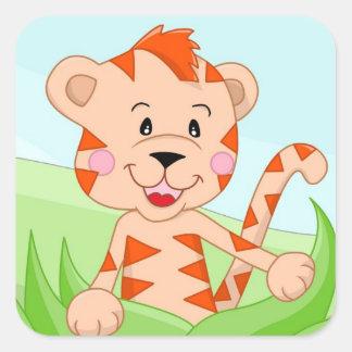 Tigre na grama adesivos