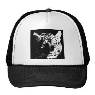 Tigre preto & branco do pop art boné