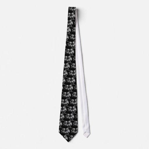 Tigre preto & branco rujir gravatas com fotos