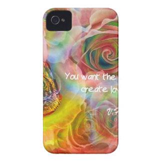 Tigre, rosas e boa mensagem capa para iPhone 4 Case-Mate