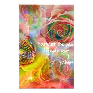 Tigre, rosas e boa mensagem papelaria