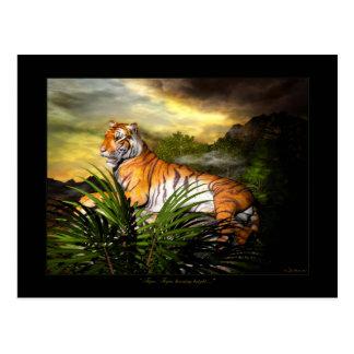 Tigre, tigre, cartão brilhante de queimadura