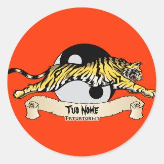 Tigre, Tuo Nome Adesivos Redondos