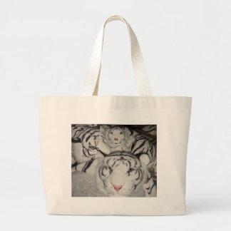 tigres brancos três sacola tote jumbo