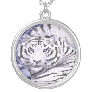 Tigres do gelo colar banhado a prata
