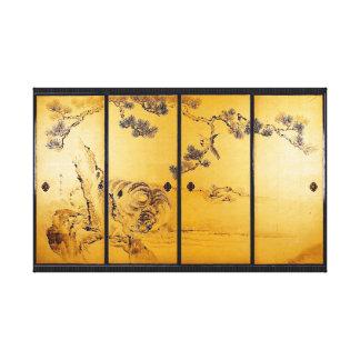 Tigres e dragões - Ganku Impressão De Canvas Esticada