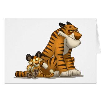 Tigres em um cartão