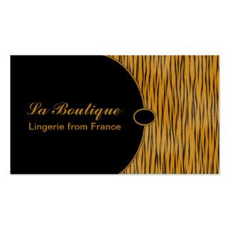 Tigress elegante cartão de visita