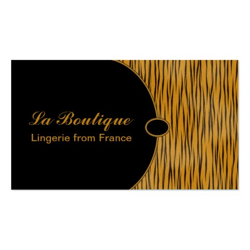 Tigress elegante cartao de visita