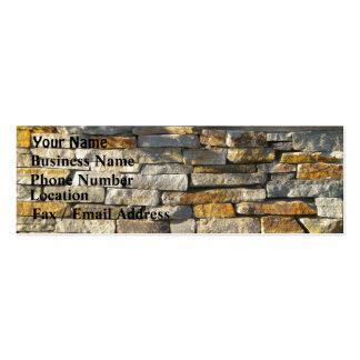 Tijolo/cartão de visita de pedra