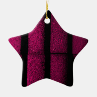 Tijolos roxos ornamento de cerâmica