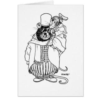 Tim & Bob minúsculos Cratchett Cartão Comemorativo