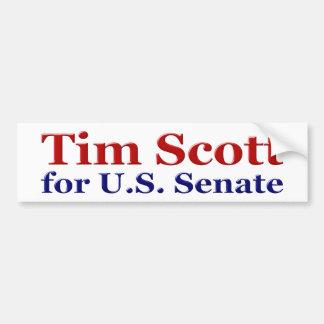 Tim Scott para o autocolante no vidro traseiro do  Adesivo