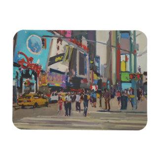 Times Square 2012 Foto Com Ímã Retangular